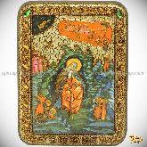 Пророк Илия Фесфитянин, Переславский чудотворец, подарочная икона, 15х20 на мореном дубе