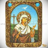 Святая мученица Иулия (Юлия) Карфагенская, подарочная икона, 15х20 на мореном дубе