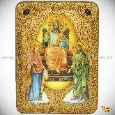 Царь Царем, аналойная икона, 21х29 на мореном дубе