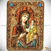 Божией Матери «Одигитрия Смоленская», аналойная икона, 21х29 на мореном дубе