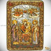 Божией Матери Пресвятой Богородицы «Экономисса (Домостроительница)», аналойная икона, 21х29 на мореном дубе