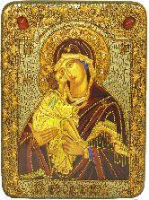Донская икона Пресвятой Богородицы, аналойная икона, 21х29 на мореном дубе