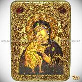 Феодоровская икона Божией Матери, аналойная икона, 21х29 на мореном дубе