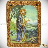 Святой праотец Адам, аналойная икона, 21х29 на мореном дубе