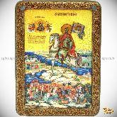 Святой Благоверный Князь Димитрий Донской, аналойная икона, 21х29 на мореном дубе