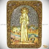 Святая преподобномученица великая княгиня Елисавета, аналойная икона, 21х29 на мореном дубе