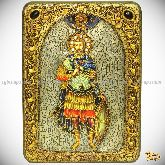 Святой мученик Иоанн Воин, аналойная икона, 21х29 на мореном дубе