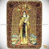 Преподобный Никита Столпник, Переславский чудотворец, аналойная икона, 21х29 на мореном дубе