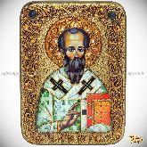 Родион (Иродион) апостол, епископ Патрасский, аналойная икона, 21х29 на мореном дубе