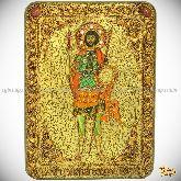 Святой мученик Валерий Севастийский, аналойная икона, 21х29 на мореном дубе