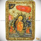 Пророк Илия Фесфитянин, аналойная икона, 21х29 на мореном дубе