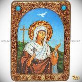 Святая мученица Иулия (Юлия) Карфагенская, аналойная икона, 21х29 на мореном дубе