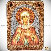 Святая Емилия Кесарийская (Каппадокийская), аналойная икона, 21х29 на мореном дубе