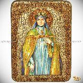 Святая преподобная Ангелина Сербская, аналойная икона, 21х29 на мореном дубе