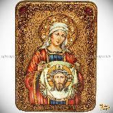 Святая Праведная Вероника Кровоточивая, аналойная икона, 21х29 на мореном дубе