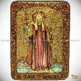 Святитель Филипп, митрополит Московский, аналойная икона, 21х29 на мореном дубе