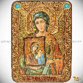 Ангел Хранитель, аналойная икона, 21х29 на мореном дубе