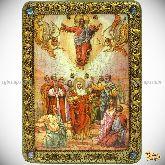 Вознесение Господне, аналойная икона, 21х29 на мореном дубе