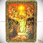 Воскресение Христово, аналойная икона, 21х29 на мореном дубе