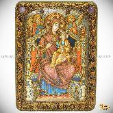 Божией Матери «Всецарица (Пантанасса)», аналойная икона, 21х29 на мореном дубе