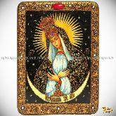 Образ Пресвятой Богородицы Остробрамская (Виленская), аналойная икона, 21х29 на мореном дубе