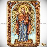 Божией Матери «Нерушимая Стена», аналойная икона, 21х29 на мореном дубе