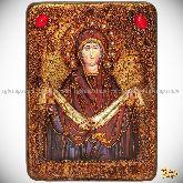 """Образ Божией Матери """"Покров"""", аналойная икона, 21х29 на мореном дубе"""