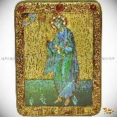 Святой апостол Андрей Первозванный, аналойная икона, 21х29 на мореном дубе