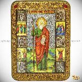 Святой апостол Андрей Первозванный, 21х29 на мореном дубе