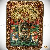 Святой благоверный князь Александр Невский, аналойная икона, 21х29 на мореном дубе