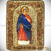 Святая великомученица Екатерина, аналойная икона, 21х29 на мореном дубе