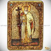 Святой равноапостольный князь Владимир, аналойная икона, 21х29 на мореном дубе