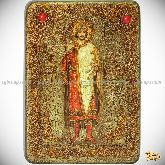 Святой благоверный князь Борис, аналойная икона, 21х29 на мореном дубе