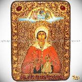 Святая великомученица Анастасия Узорешительница, аналойная икона, 21х29 на мореном дубе