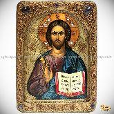 Господь Вседержитель, живописная икона, 21х29 на кипарисе