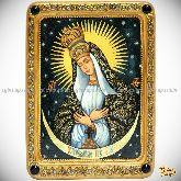 Образ Пресвятой Богородицы «Остробрамская (Виленская)», живописная икона, 21х29 на кипарисе