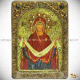 """Образ Божией Матери """"Покров"""" , живописная икона, 21х29 на кипарисе"""