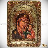 Образ Казанской Божьей Матери, живописная икона, 21х29 на кипарисе