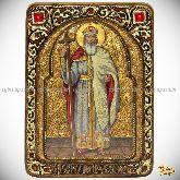 Святой равноапостольный князь Владимир, живописная икона, 21х29 на кипарисе
