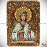 Святая благоверная княгиня Елена Сербская, живописная икона, 21х29 на кипарисе