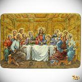 Тайная вечерия, живописная икона, 41х29 на кипарисе