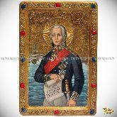 Святой праведный воин Феодор Адмирал (Ушаков), живописная икона на кипарисе