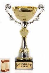 Кубок подарочный Чаша золотая с серебр.рельефными ручками Великих свершений