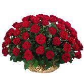 """Корзина с цветами """"Рубиновое Счастье"""""""