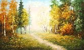 "Картина на холсте ""Дорога в осень"""