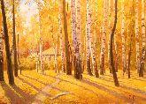 """Картина на холсте """"Золотые листья"""""""