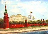"""Картина на холсте """"Московский Кремль летом"""""""