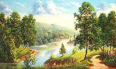 "Картина на холсте ""Енисей"""