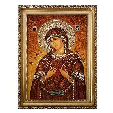 Янтарная икона Богородицы Семистрельная