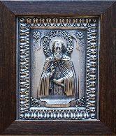 Икона Сергий Радонежский, рамка классическая, 85х110